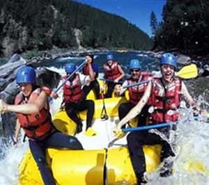 rafting at English camp
